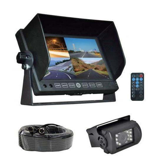 "7"" Display Cam, DVR Dashboard Camera Waterproof Camera on the Exterior Your Vehicle"