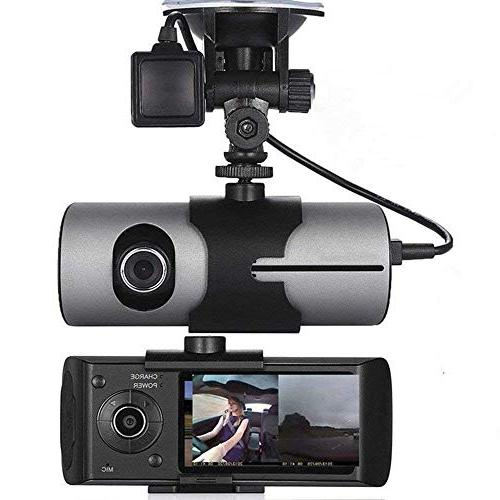 Dual Super Angle Car Dash Cam with IPS Detection, Mode