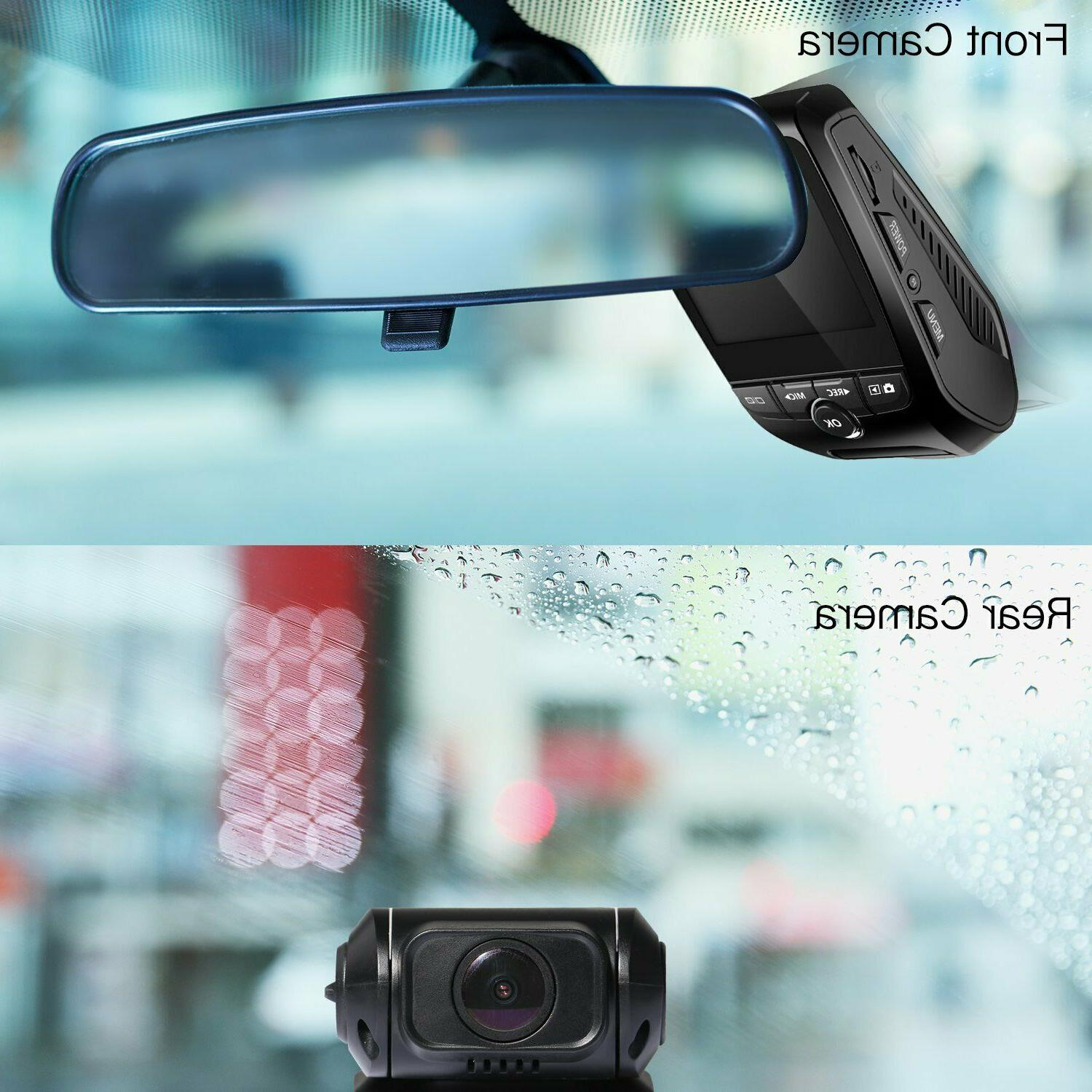 Dual Dash 1080P FHD Front and Rear Camera 170°Wide
