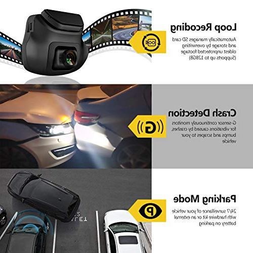 Dual S3 Ultra HD Front & 150 Degree Wide Dual Lens Car Camera, Front and Rear G-Sensor, WDR, Included