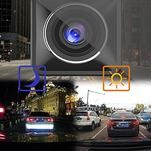 AWESAFE Dual for Inside Dash 1920X1080P Angle,Night Sensor,Parking Detection Uber,Taix(32GB