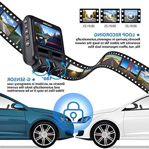 Dual Cam,EACHPAI Pro Camera for Cars/Uber/Lyft/Truck/Taxi Sony Angle,Loop Record,WDR,GPS,32G Xmas Gift