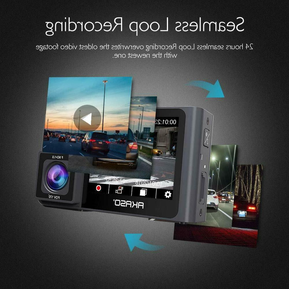 Dual Front and AKASO Dash Camera Front Dual