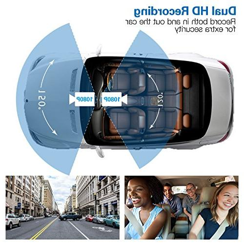 Provision-ISR Rotatable Inner Camera, Vision, Wireless Included, Supports 64GB Cards, for Rideshare Guard, G Sensor
