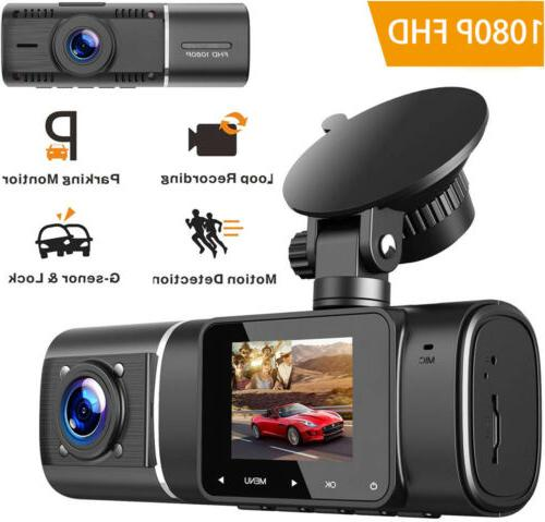 dual dash camera front and rear 1080p