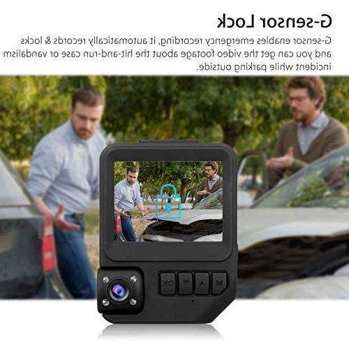 EEEKit Dual Lens Car Dash Cam Dashboard Wide Angle in Car with WDR Vision