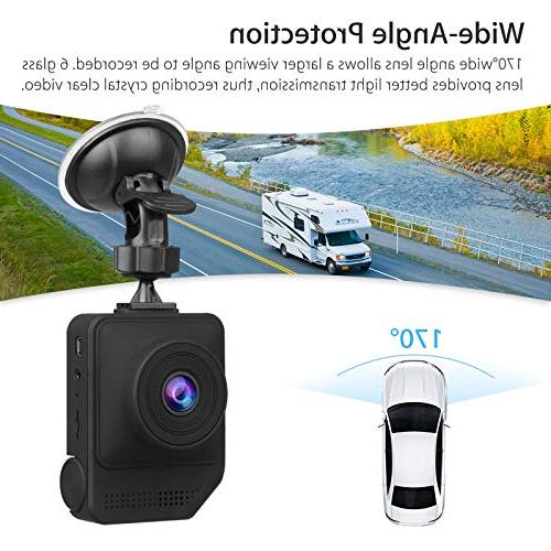 Dash Cam Dashboard Wide Angle Vehicle Driving DVR Recorder with G-Sensor Parking Monitor WDR Vision