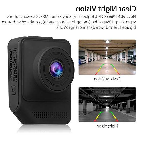 EEEKit Lens Dash 1080P Dashboard 170 Wide Angle Car Vehicle DVR Recorder with Monitor WDR Recording Night Vision