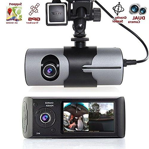 "Dual 2.7"" 1080P Front and Car Camera in 2 GPS module Memory Motion Detection, Vision Motion"