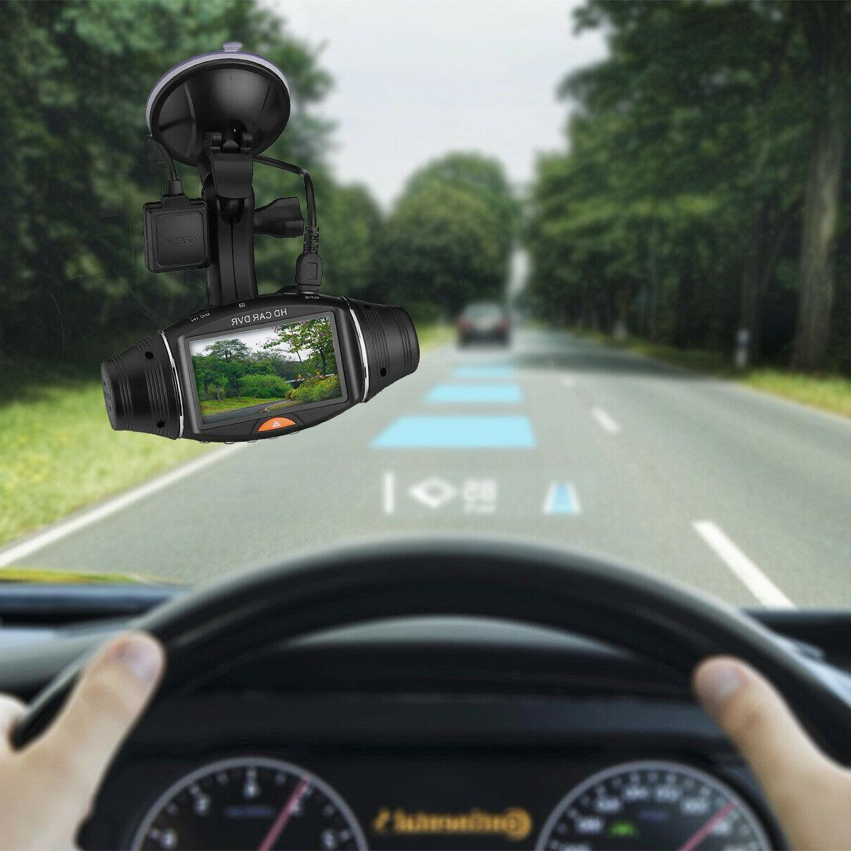 HD Dual Lens GPS Camera Vehicle Cam Video Recorder