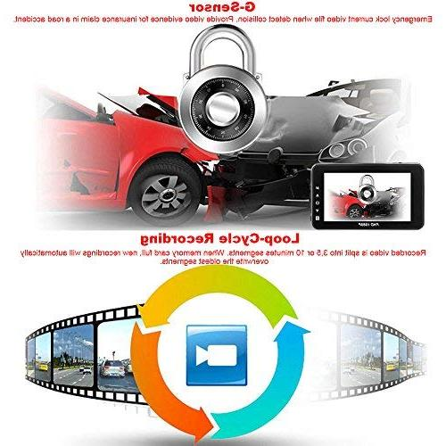 Lens FHD 1080p Video Dashboard Camera with Vision, Loop Recording,WDR,Parking Monitor for Uber Taxi