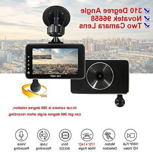 E-ACE Dash Lens Video Recorder Dashboard with Night Vision, Loop Recording,WDR,Parking Uber