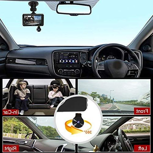 E-ACE Dash Lens 1080p Car Video Dashboard Camera 360 with Night Vision, Uber