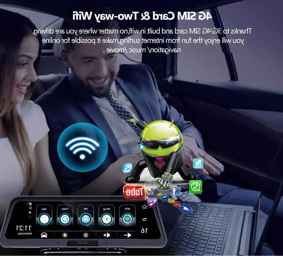 <font><b>ANSTAR</b></font> 4G Android Camera WiFi GPS ADAS Car Camera