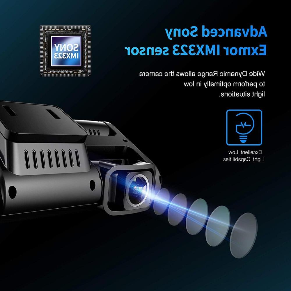 <font><b>Pruveeo</b></font> D30H WiFi <font><b>Dash</b></font> with Infrared Night Front and Inside, car Tax
