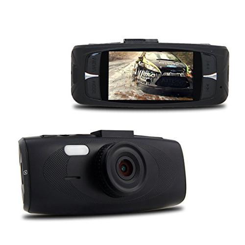Black G1W-H Dash - 160° Angle ZOOM - Full 1080P Car Video - Vision Detection + AR0330