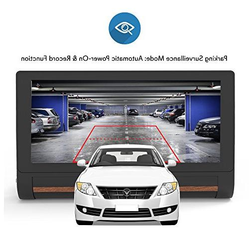 GPS Touchscreen Dashcam - Navigation Dual Front and - Wireless FM and Battery