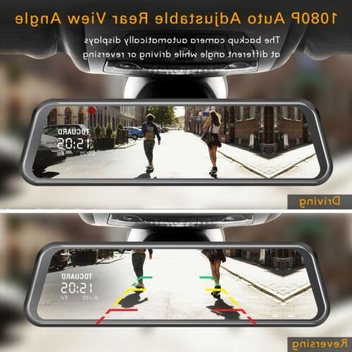 TOGUARD Backup Camera Mirror Full Touch Streaming