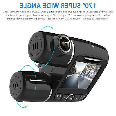 Dual Dash WIFI HD 1080P Front and Inside