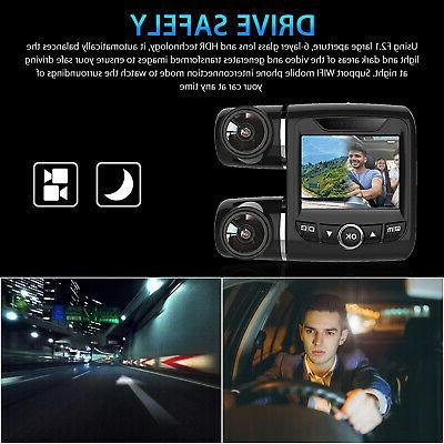 Dual Lens Dash WIFI Camera HD 1080P Front and Car DVR
