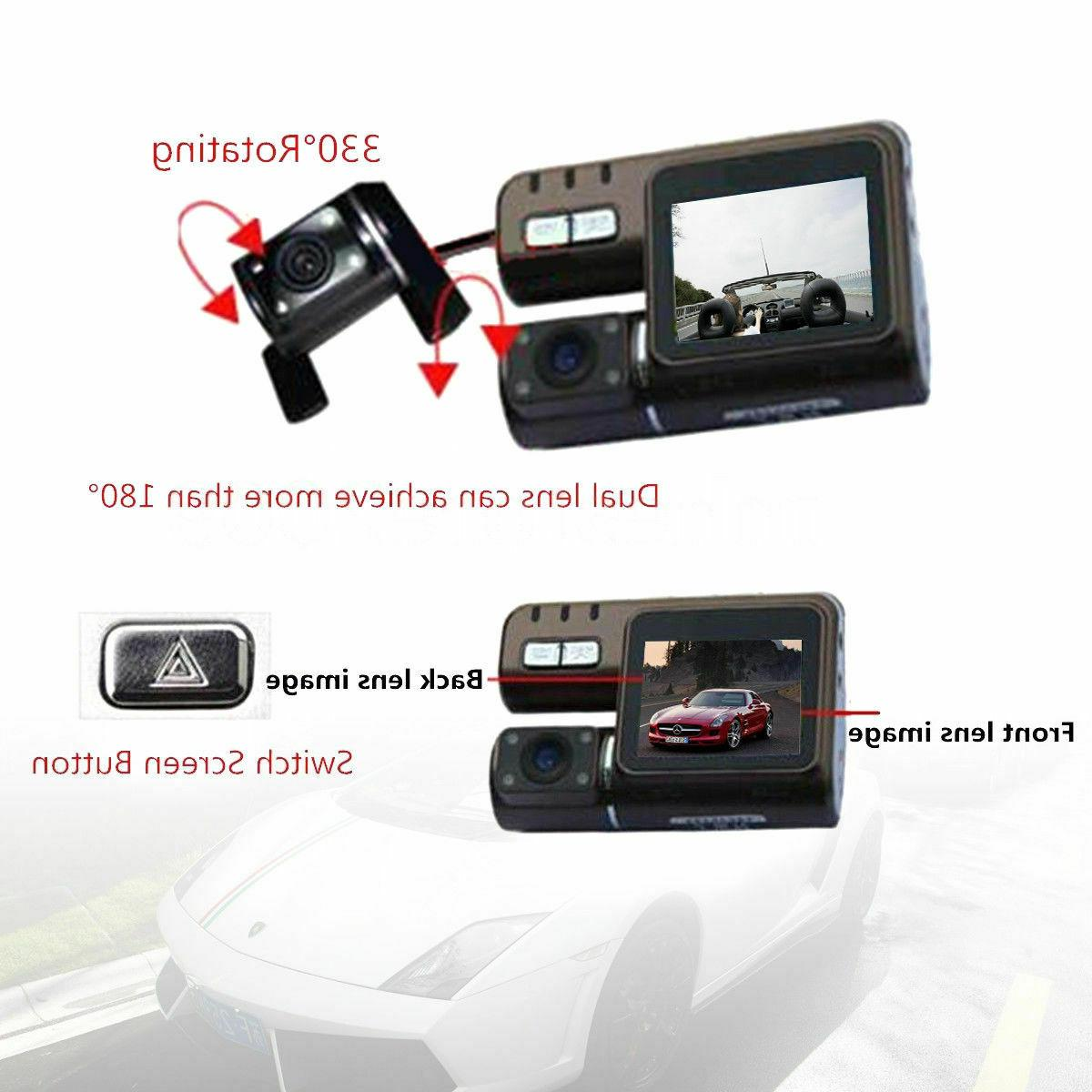 "HD Dual 2"" Car DVR Dash Cam Vehicle Rearview Video Recorder"
