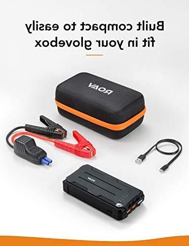 Roav Jump by Anker, 800A Peak 12V for up 6.0L Diesel Engines to 3.0L, with Built-In and Compass