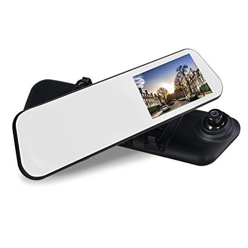 AUTO-VOX 4.5'' Touch Cam Camera IP Waterproof Night Vision View License Plate Back up Car Camera Motion Detection, G-sensor