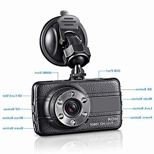 GZDL Full HD 1080P Mini Blackbox Camera Camera Front G-Sensor Motion Video