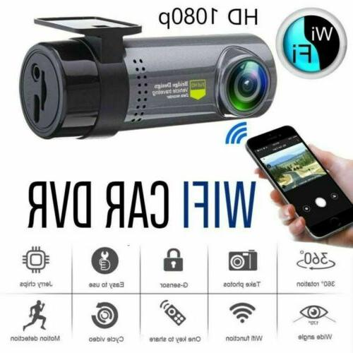 Wireless WiFi Hidden DVR Camera Car Dash Cam 1080p HD G-Sens