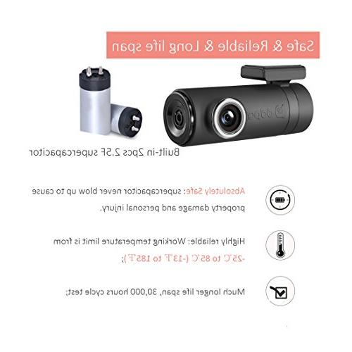 DDPai Mini2P Cam With Distortionless 1440P 2K With Built-in Snapshot WDR, 1FPS