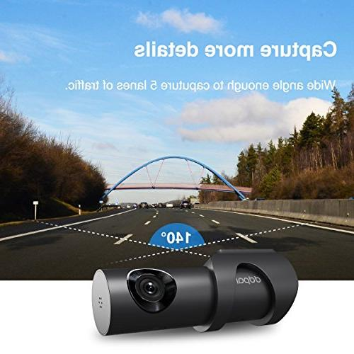DDPai Mini3 1600P Camera Built 32G mmC Car Camera with Aperture, Vision,