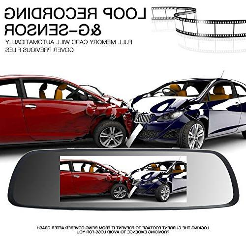 ILIHOME Dash 7 Screen 1080P Cam Front Cam and Rear WDR, Loop Parking