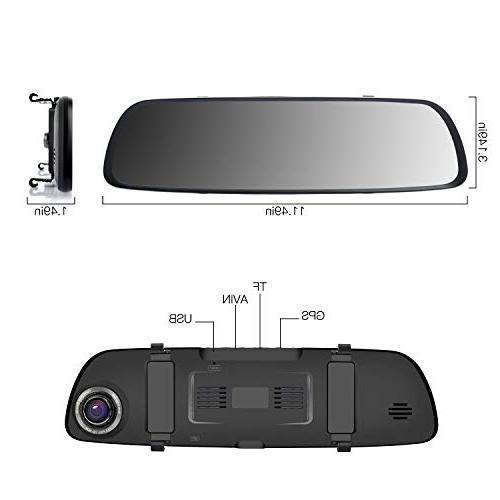 ILIHOME Cam, 7 1080P Lens Cam 6G Front and Rear WDR,