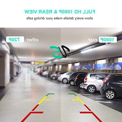 Mirror Dash Cam and 10 Touch Rear View Lens 170°Wide Backup G-Sensor Parking Monitor Motion