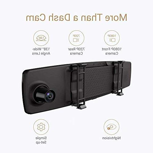 YI Mirror Dash with Touch Mobile APP, HD G Sensor, Reverse