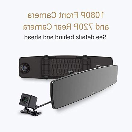 YI Dash Cam, Dual Dashboard with APP, Front View HD Reverse Monitor,