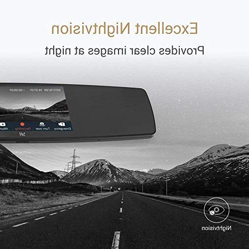 YI Mirror Cam, with Screen, Mobile APP, Rear HD Reverse Monitor,