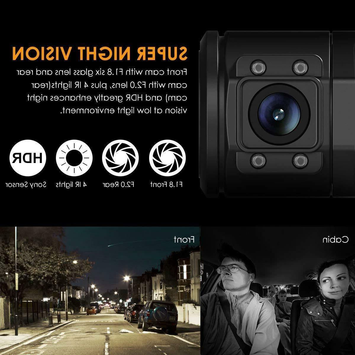 Vantrue Dual Night Vision Dash 256GB