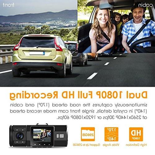 VANTRUE Cam 2 in 1 Dual Lens and with Gift for