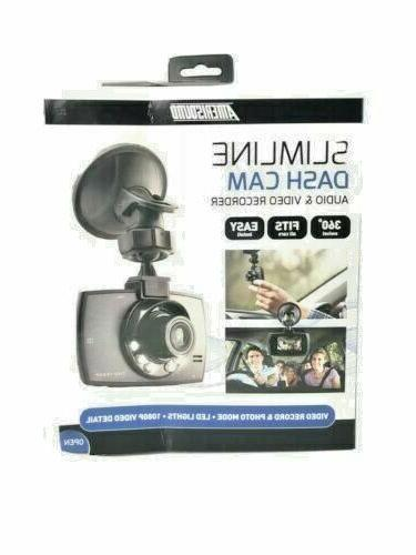 DASH CAM Amerisound Slimline 1080p Audio & Video Recorder Da