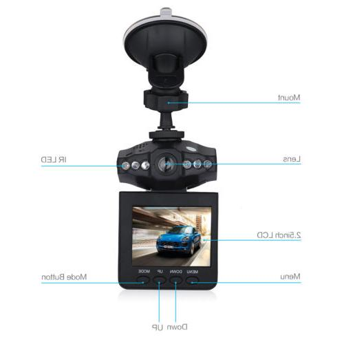 "2.4"" Car Dash Camera Night Vision Cam Driving Recorder"