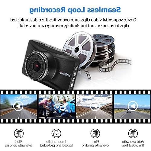 OldShark with 170° Wide-Angle Lens, Dashboard with G-Sensor, Night Parking Guard,