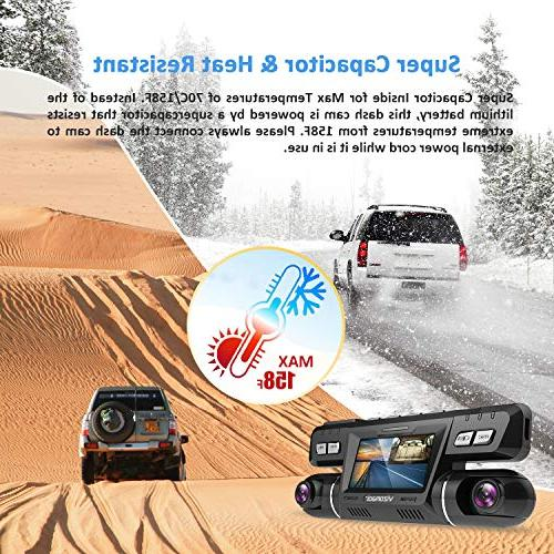 Vizomaoi Dash Cam with WiFi, Dual Front and Camera Taxi