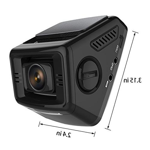 Pruveeo P3 LCD FHD 1080P Dash Cam, 170 Degree Camera for Recorder