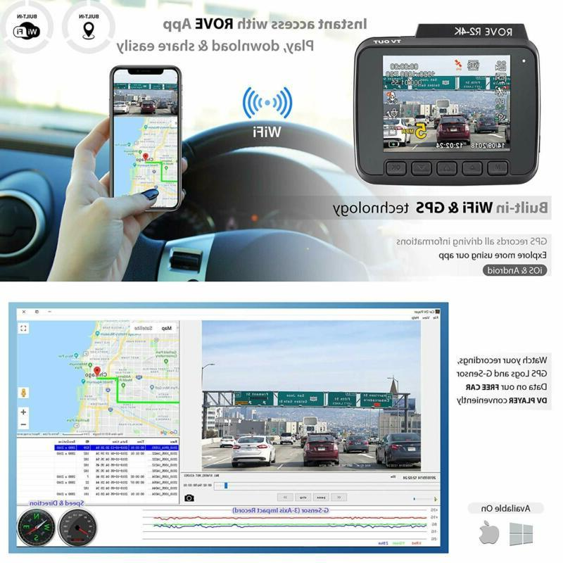 Rove Dash Camera with WDR and Vision