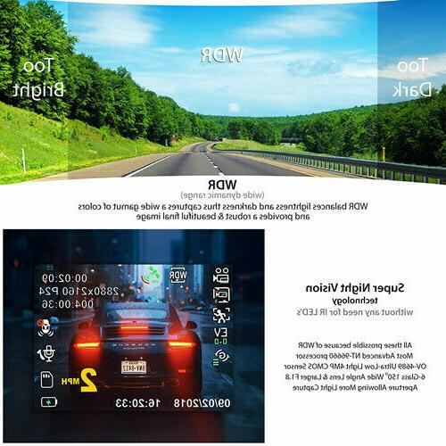 Built in Car Dashboard Camera with