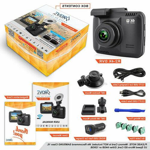 Rove Dash Cam Built in Car with UHD