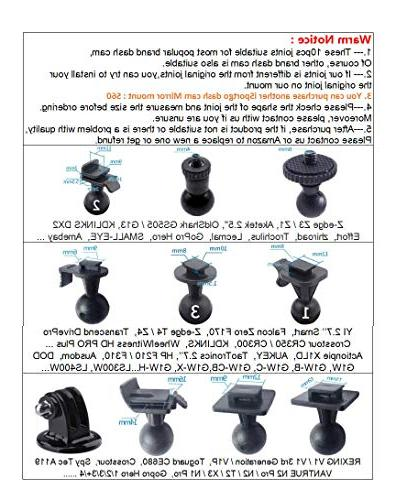 iSportgo S30 Suction 5 Different for Z-Edge, Old Shark, X1,Falcon DVR