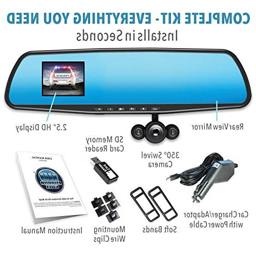 Official Mirror – Seen on TV Dash Motion Detection, 720P Dashboard Video 16GB Micro Card, Loop Recording,