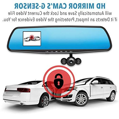 """Official – As TV Dash Cam 350°, Motion 2.5"""" 720P HD, Dashboard Video with Micro SD Recording,"""